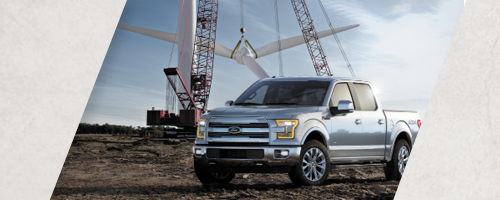 2015 Ford F-150 with windmill
