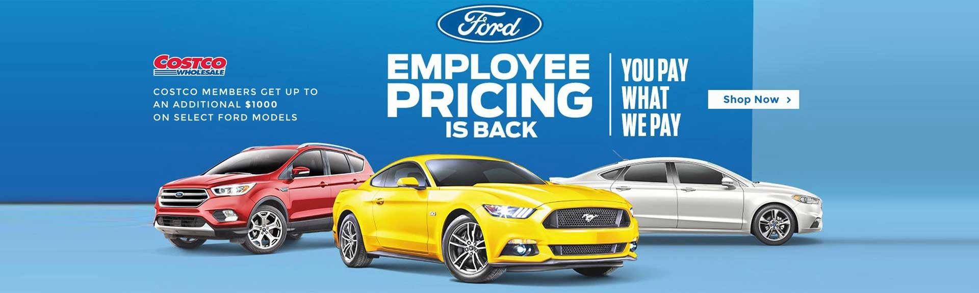 Employee Pricing - You Pay What We Pay